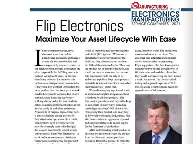 Flip Recognized Among 10 Best Electronics Manufacturing Service Companies of 2021