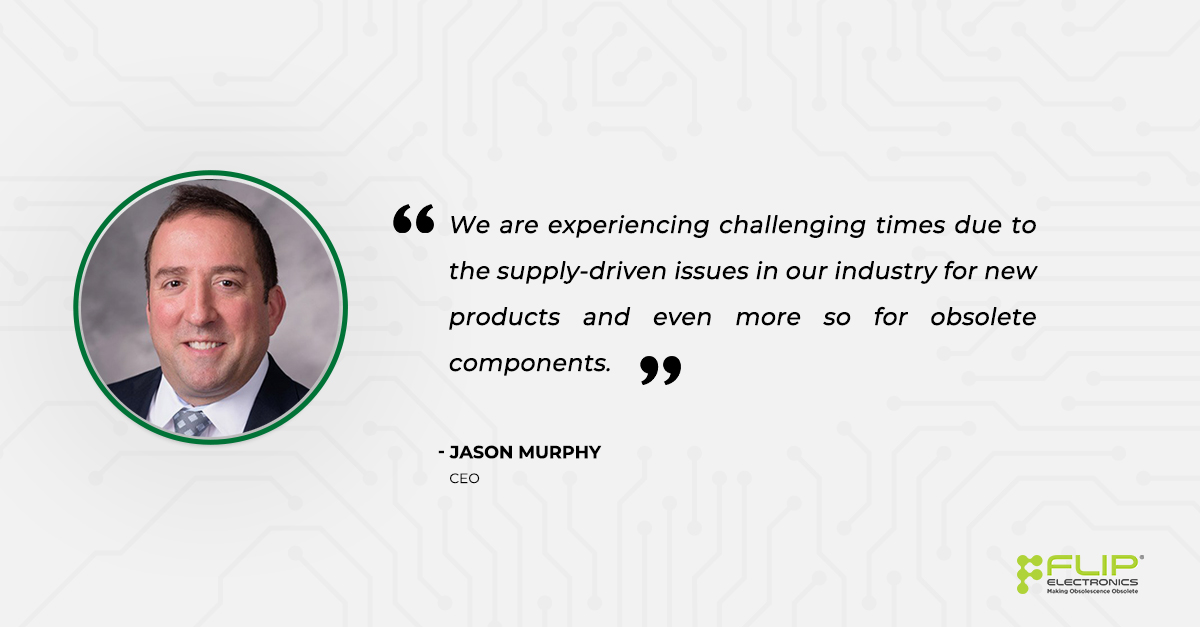 Quote from Jason Murphy Flip Electronics CEO