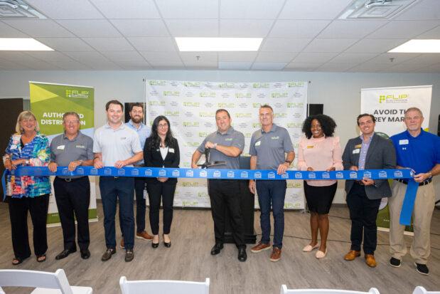 Flip Electronics Grand Opening Ribbon Cutting